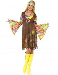 Disfraz hippie flores años 70