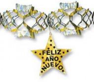 Guirnalda Feliz Año Nuevo dorada