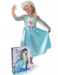 Disfraz de Elsa Frozen™ con peluca niña caja