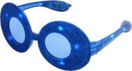 Gafas ovales con purpurina azul