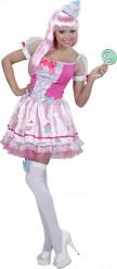 Disfraz de cupcake rosa mujer