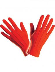 Guantes cortos rojos adulto