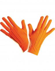 Guantes cortos naranjas adulto