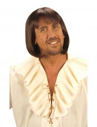 Peluca medieval para hombre castaña