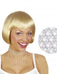 Collar perlas blancas mujer
