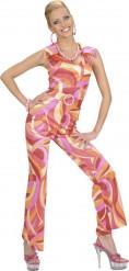 Disfraz disco rosa mujer