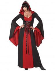 Disfraz vestido maléfica con capucha mujer