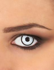 Lentes de contactofantasía blanco y negro