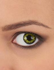 Lentes de contacto fantasía amarillo borde negro