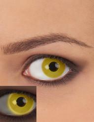 Lentillas de contacto UV amarillas adulto