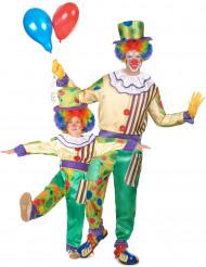 Disfraz de pareja payaso padre e hijo