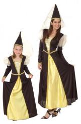 Disfraz pareja princesa madre niña