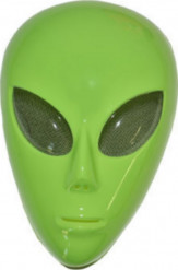 Máscara de alien verde adulto