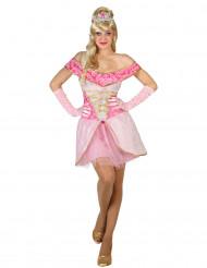 Disfraz princesa rosa sexy mujer