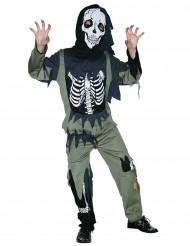 Disfraz esqueleto zombie niño
