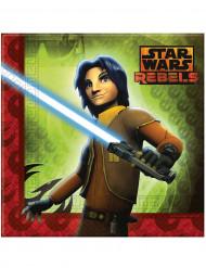 20 servilletas de papel Star Wars Rebels™ 33 x 33 cm