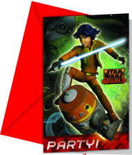 6 Invitaciones Star Wars Rebels™