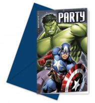 6 tarjetas de invitación Los Vengadores™