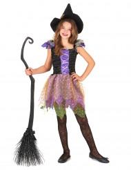 Disfraz bruja multicolor niña