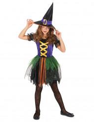 Disfraz bruja colores niña