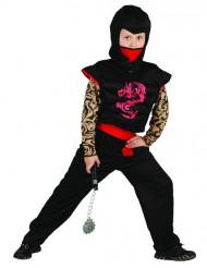 Disfraz ninja rojo y negro niño