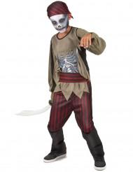 Disfraz pirata zombie niño