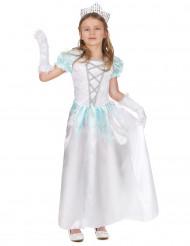 Disfraz princesa blanco niña