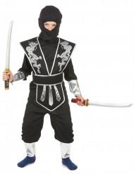 Disfraz ninja niño negro y plata