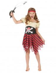 Disfraz pirata niña cinturón calavera