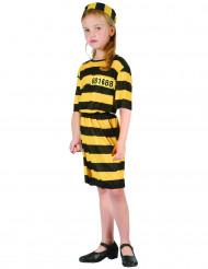 Disfraz de presa amarillo y negroniña