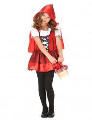 Disfraz de caperucita roja con capa niña