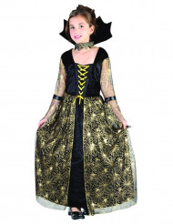 Disfraz bruja araña negro y oro niña