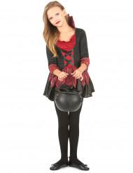 Disfraz de vampiresa niña rojo y negro