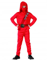 Disfraz de ninja rojo niño