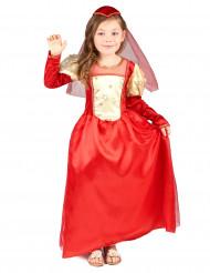 Disfraz medieval rojo niña