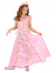 Disfraz princesa rosa niña estrellas