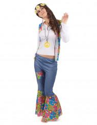 Disfraz hippie mujer love