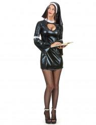 Disfraz de monja sexy mujer