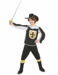 Disfraz mosquetero negro y oro niño