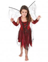Disfraz hada maléfica roja negra niña