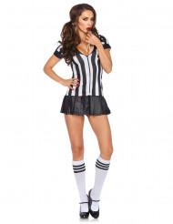 Disfraz de árbitro sexy mujer