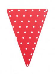 5 Banderines DIY rojos con puntos blancos de cartón