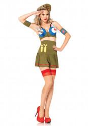 Disfraz piloto de guerra sexy mujer