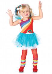 Disfraz de arco arcoíris niña