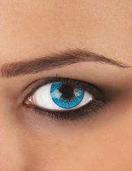 Lentillas de contacto fantasía azul 3 tonos