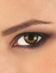 Lentillas contacto fantasía doradas 3 tonos adulto