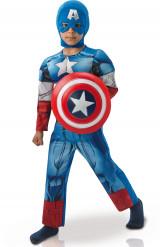Disfraz lujo Capitán América™ Los Vengadores con relleno niño