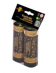 Cañones confetis 11 cm dorado