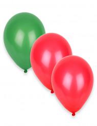 12 Globos verdes y rojos Portugal 27 cm