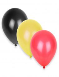 12 Globos tricolores Alemania 27 cm